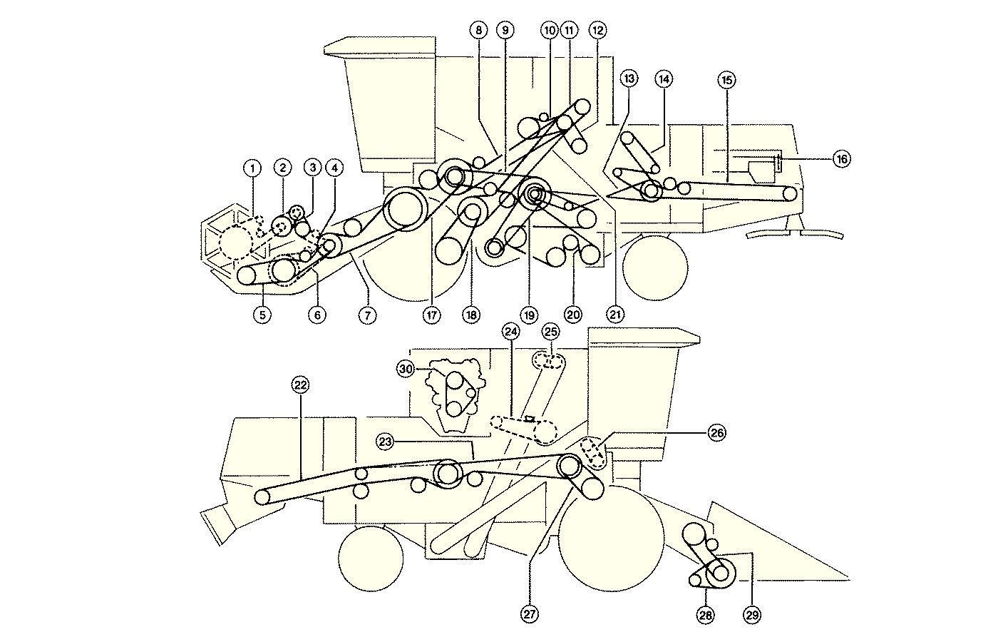Елементи приводу комбайна CLAAS Dominator 68SR