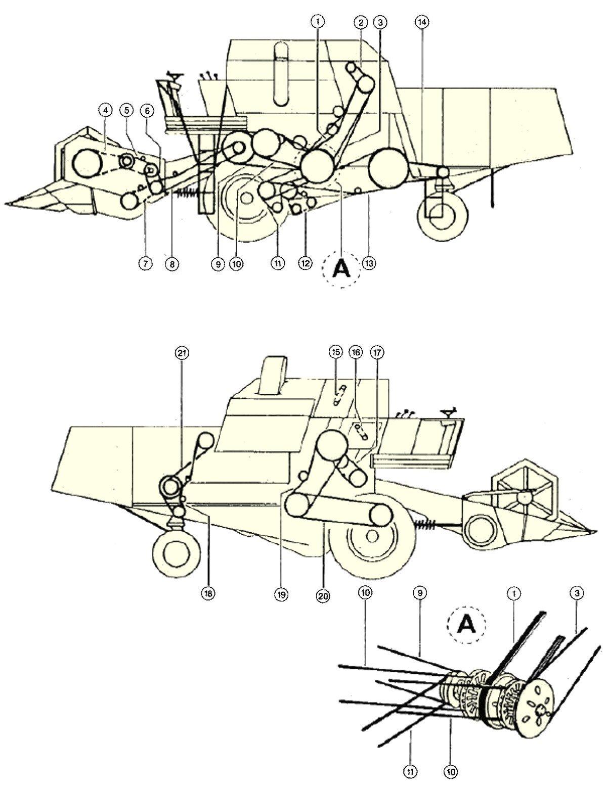 Елементи приводу комбайна CLAAS Mercator S70, S75